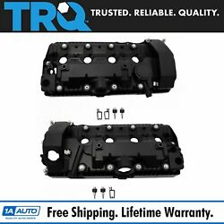 Trq Engine Valve Cover W/ Gasket And Hardware Lh Rh Kit Pair Set Of 2 For Bmw