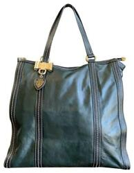 Authentic GUCCI Dark Olive Green Leather Duchessa Large Tote Handgag 181491 $425.00