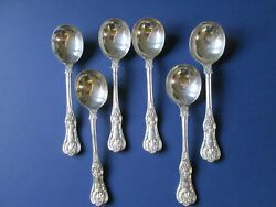 English King And Co .6 Antique Sterling Silver Gumbo Soup , Hand Polished