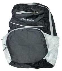 NEW Black Foldable Backpack for Traveling and Outdoor Sports Lightweight $2.80