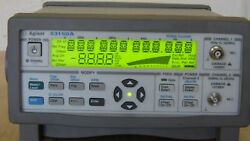 Agilent 53150a Microwave Frequency Counter/power Meter 10hz-20ghz 20 Hr. Use