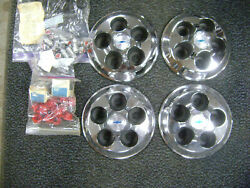 1968 1969 1970 Nos Chevrolet And Camaro Accessory And Racing Hubcaps Steel Wheels
