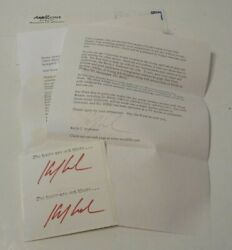 Kevin Anderson X-files Working Stiff 3 Signed Bookplates And Letter Psa Guarantee
