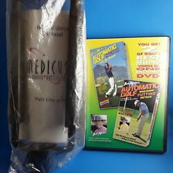 Medicus Dual Handle Putter Trainer New And Bob Mannand039s Putting/driving Method Dvd
