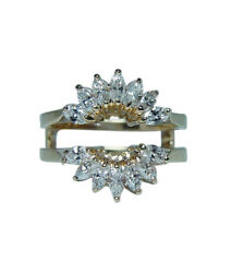 Marquise Diamond Wedding Guard Cage Ring 14k Gold Martin Flyer