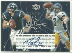 2003 Upper Deck Pros And Prospects 132 Drew Brees Kyle Boller /500