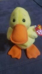 Ty Beanie Baby Quackers The Duck With Tag Retired  Dob April 19th, 1994