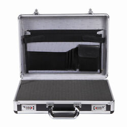 Aluminum Hard Flight Case Business Working Briefcase 17inch Laptop Carrying Case $62.99