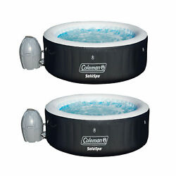 Coleman Saluspa 4 Person Portable Inflatable Outdoor Spa Hot Tub 2 Pack