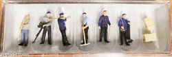 Preiser Ho 10602 Railroad Personnel -- Standing Track Workers Plastic
