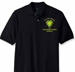 42nd Infantry Division Rainbow Army Embroidered Light Weight Polo Shirt