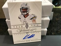 Panini Flawless Silver On Card Autograph Chargers Auto Keenan Allen 13/25 2014