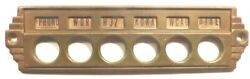 Vintage Philco 40-110 Battery Console Brass Pre-set Button Faceplate And Screws