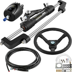 Hydraulic Outboard Boat Steering Kit Hk6400a-3 Ho5110 10and039 Hoses 300hp Helm Pump