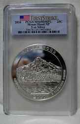 2010 Pcgs Ms69 Dmpl Fs Mount Hood 5 Oz .999 Silver Coin America The Beautiful