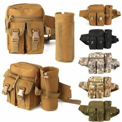 Outdoor Tactical Waist Fanny Pack Pouch Military Camping Hiking Belt Bag Large $15.99