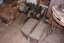 1935 Cadillac V-8 Engine With Cylinder Blocks/heads And Clutch Assembly No Cracks