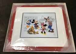 Disney Cel Picture Fabulous Five Mickey Minnie Donald Pluto Goofy Very Rare