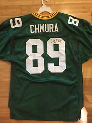 Green Bay Packers Chmura Nfl Authentic Wilson Game Jersey And Football Autographed