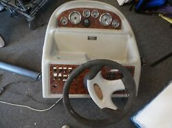 Searay Dashboard - Gauges - Switches - Tilt Wheel- Complete- Boat Marine - Used