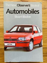 1985 The New Observer's Book Of Automobiles By Stuart Bladon Small Paperback $9.95