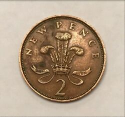 Extremely Rare - 1971 2p New Pence Coin 1st Edition