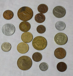 Collection Of Old Foreign Coins - Good Play Money From Around The World.