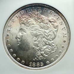1885 United States Of America Silver Morgan Us Dollar Coin Eagle Pcgs Ms I78486