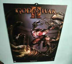 No Apo - Retail Promo New God Of War 2 Ii Official Sony Poster Sign Embossed