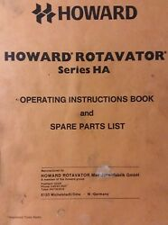 Howard Ha Rotavator Tiller 3-point Hitch Owner, Parts And Service Manual Tractor