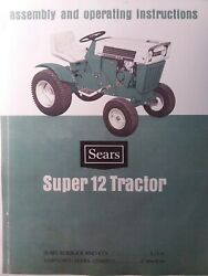 Sears Suburban Super Ss 12 Hp Garden Tractor 917.25311 Owner And Parts 2 Manual S