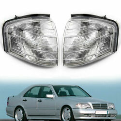 For Mercedes Benz C Class W202 1994-2000 Pair Corner Lights Turn Signal Lamps