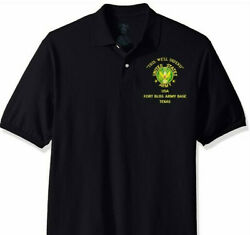 Fort Bliss Army Base Texas Army Embroidered Light Weight Polo Shirt