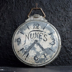 Early 20th Century Double Sided French Zinc Clock Smiths Trade Sign