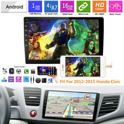 9 Android 9.1 Car Stereo Radio Gps Video Player Mirrorlink Fit For Honda Civic