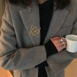 Women's Suits Hollow Brooch Pin Clothing Decorative Metal Geometric Patterns New