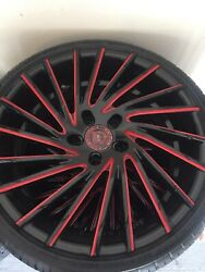 Corvette Rims And Tires Staggered Lexani 20s In Front 22s In Back New Tires.andnbsp