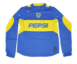 Boca Junior 2003 Home Jersey Nike Shirt Long Sleeves Pepsi Cabj Player Issued
