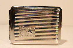 Vintage Ussr Russia Beautiful Jubilee Military Cigarette Tin Case Box Moscow