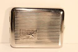 Vintage Russia Ussr Beautiful Military Jubilee Cigarette Tin Case Boxmoscow