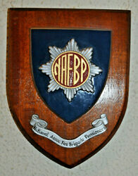 National Association Of Fire Brigade Pensioners Wall Plaque Shield Crest Service
