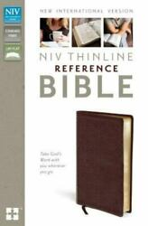 Niv, Thinline Reference Bible, Bonded Leather, Burgundy, Red Letter Edition By