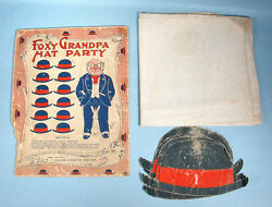 1905-1906 Foxy Grandpa Hat Party Game W/box Top Bunny Early Comic Character