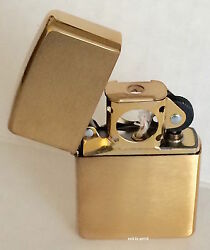 Zippo Windproof Brushed Brass Pipe Lighter 204bpl 204b Pipe New In Box