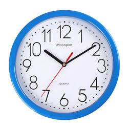 10 Inch Wall Clocksilent Non-ticking Quartz Battery Operated Round Easy To Read