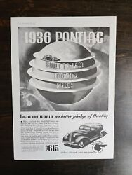 Vintage 1936 Pontiac Silver Streak Sixes And Eights Full Page Original Ad A1