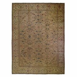 10'8x13'6 Vintage Farsian Mahal With Apricot Wash Hand Knotted Rug R49766