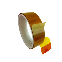 3m Linered Low-static Polyimide Film Tape 5433 Amber, 12 In X 36 Yds X 2.7 Mil