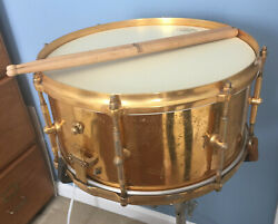 "Rare Original Billy Gladstone Gold Plated Vintage Snare Drum 7""x14"" 3-way tuning"