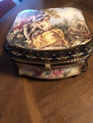 Vintage Limoges China Jewelry Box Very Good Condition